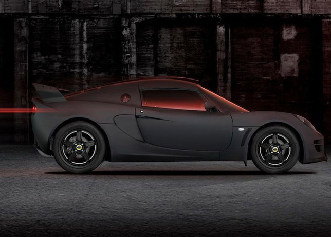 Lotus Exige Matte Black Side