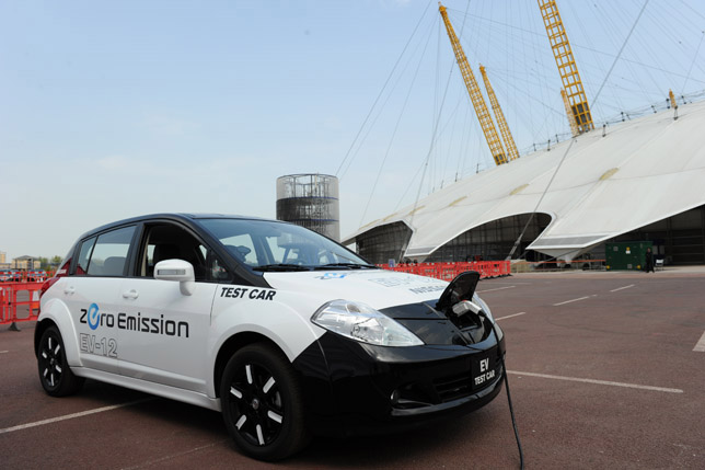 Twin charging points in Lincoln Test Vehicle