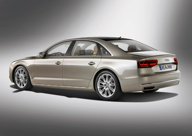 2011 Audi A8 L W12 Quattro RearSide