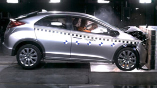 2012 Honda Civic crash test [video]