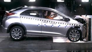 2012 Honda Civic crash test [video]
