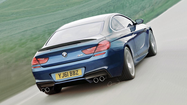 2013 BMW M6 F13 render rear