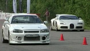 Nissan Skyline GT-R R34 900HP vs. Bugatti Veyron 1001HP