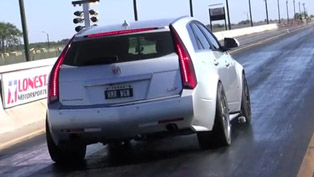 Hennessey Cadillac CTS-V Wagon - 10.69 at 1/4 mile [video]