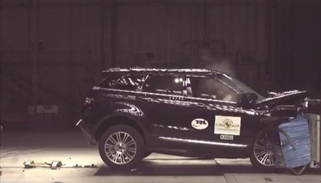 Range Rover Evoque crash test