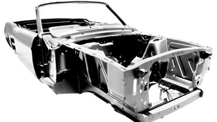 Newly Forged '67 Mustang Convertible Shell to Please Classic Car Restorers