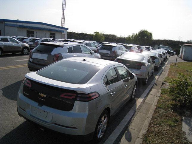 Chevrolet Volt at Shanghai Port