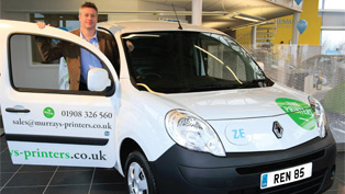 First Sale of Kangoo Van Z.E. in UK