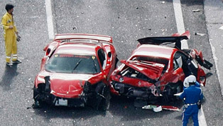 The most expensive car crash in the world