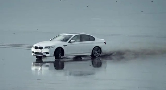 BMW M5 F10 hits the beach in Wales