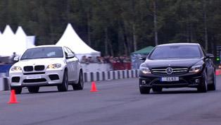 BMW X6M Evotech Stage 2 vs Mercedes-Benz CL63 AMG [HD video]