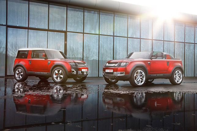 Land Rover Defender Concept 100 and Defender Concept 100 Sport