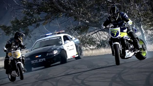 Motorcycle vs. Car Drift Battle 2 [HD video]