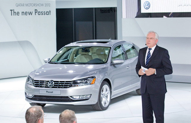 VW Passat at Qatar Motor Show (2012)