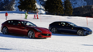 Alonso and Massa's Ferrari Way of Skiing