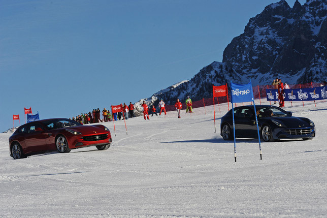 Alonso and Massa's Ferrari Way of Skiing