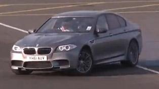 Will it drift? - 2012 BMW F10 M5 [video]