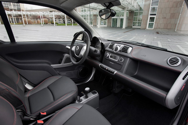 2012 Smart Fortwo Sharpred Interior