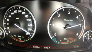 2012 BMW M550d xDrive 0-250 km/h [video]
