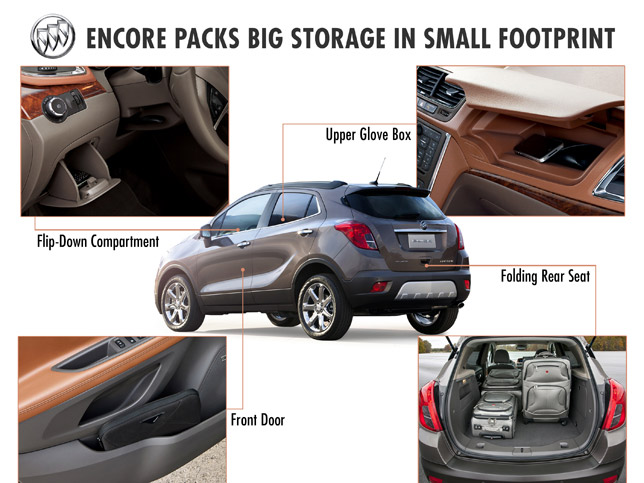 2013 Buick Encore Small Luxury Crossover now with more storage space