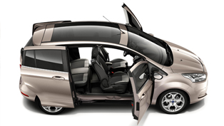2012 Ford B-MAX's Easy Access Door System