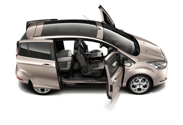 2012 Ford B-MAX with unique Easy Access Door System