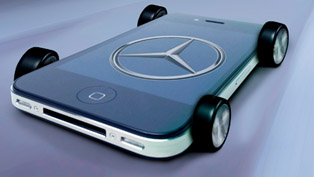 Mercedes-Benz iPhone on wheels - A-Class interior [pictures]