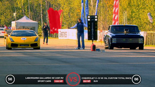 Gallardo UGR TT vs Porsche 911 Switzer vs Chevrolet C10 [HD video]