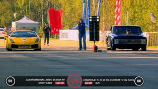Gallardo UGR TT vs Porsche 911 Switzer vs Chevrolet C10 [HD video]