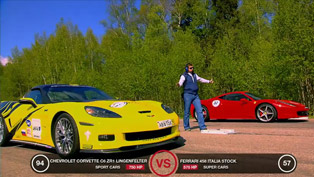 Ferrari 458 Italia vs Corvette ZR1, GT-R and RS6 [HD video]