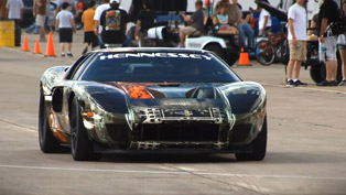 Hennessey Ford GT Sets Texas Mile Speed Record - 257.7 mph [VIDEO]