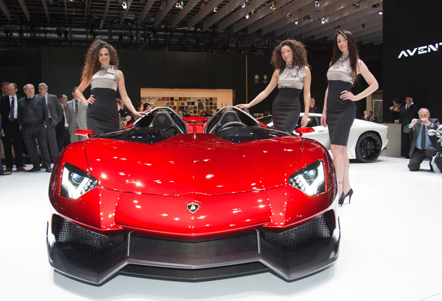 Lamborghini Aventador J revealed at 2012 Geneva Motor Show