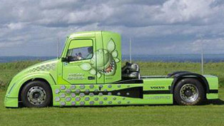 Mean Green - Volvo Hybrid Truck