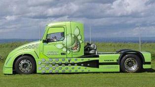 Mean Green - Volvo Hybrid Truck