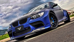 A Blue BMW M3 GTRS3 by Vorsteiner