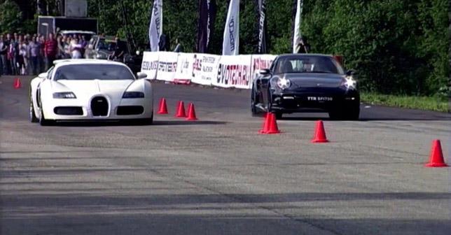 Bugatti vs Porsche Drag
