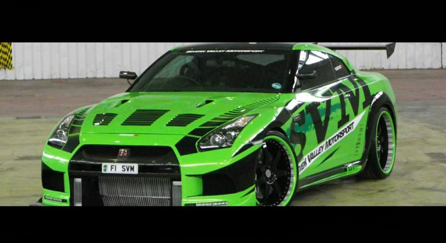 Nissan Gt R The Hulk Hits 350 Km H Hd Video