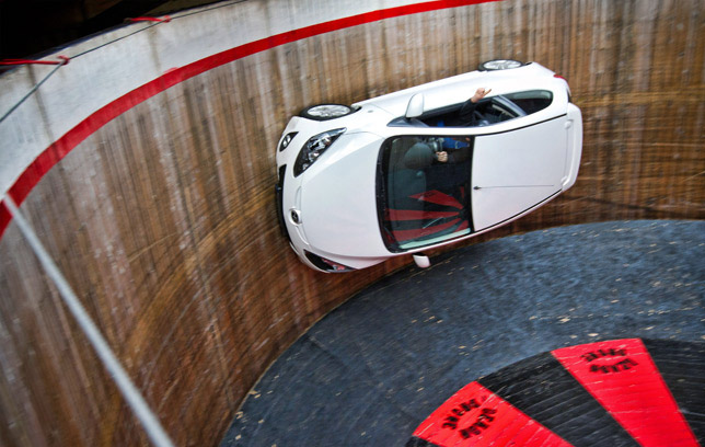 Mazda2 on the Wall of Death