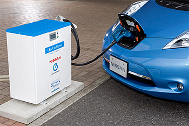 "2012 Nissan Leaf powered by ""LEAF to Home"" Power Supply System"