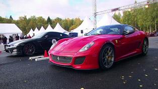 Ferrari 599 GTO vs Chevrolet Corvette ZR1 and Nissan GT-R [HD video]