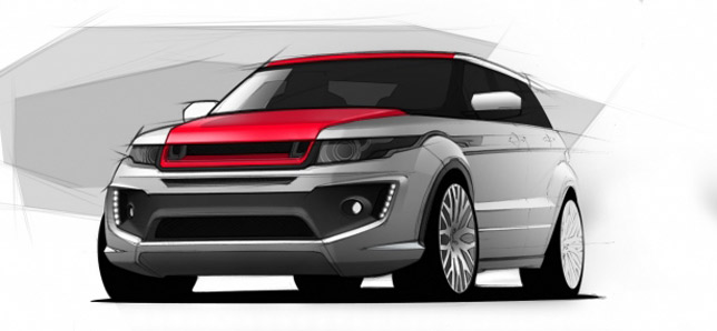 Kahn RS250 Range Rover Evoque sketch