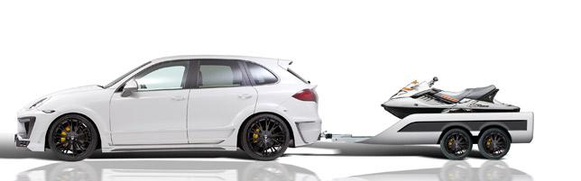 Lumma Porsche Cayenne CLR 558 GT and Sport Trailer