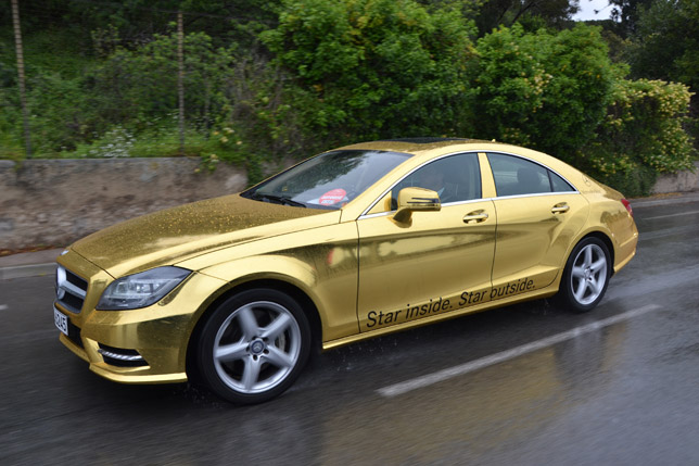 Golden Mercedes-Benz AMG at the Cannes Film Festival