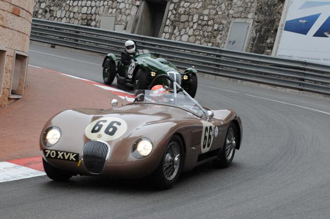 Legendary Jaguar C-Type at Monaco Historique