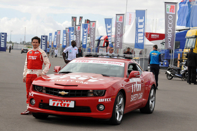 Bruno Correia with Camaro Safety Car