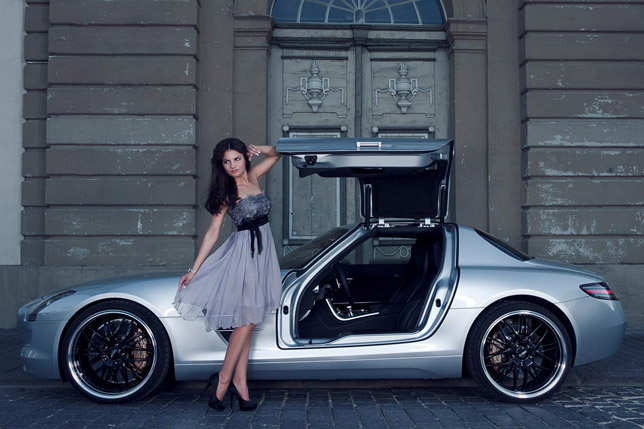 Inden Design Mercedes-Benz SLS AMG and Katja Runiello