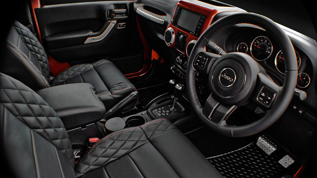2012 Kahn Jeep Wrangler Military Copper Edition Interior