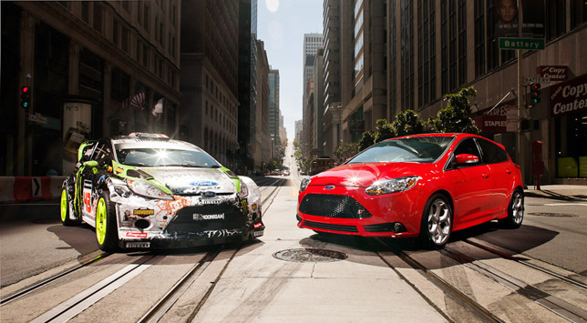 Ford Focus ST taking part in the Ultimate Urban Playground Video