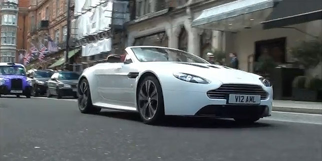 Aston Martin V12 Vantage Roadster on the streets of London