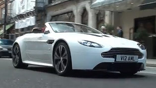 Aston Martin V12 Vantage Roadster spotted on the streets [VIDEO]